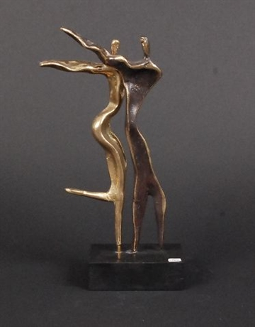 Bronzefigur ''Dancing in The Wind'' af Yanni Souvatzoglou