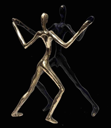 Bronzefigur ''It Takes Two'' af Yanni Souvatzoglou
