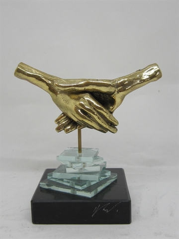 Bronzefigur  ''Friendship""